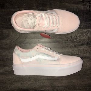Vans Shoes | Custom Light Pink And